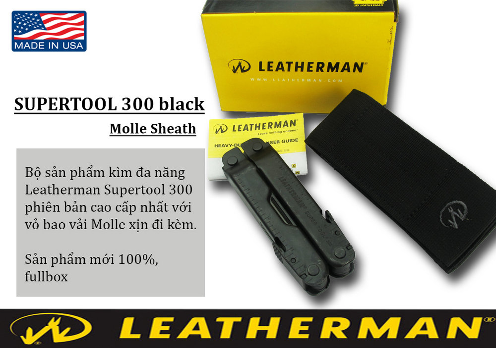 Heavy Leatherman - Supertool 300 Black (Đen)