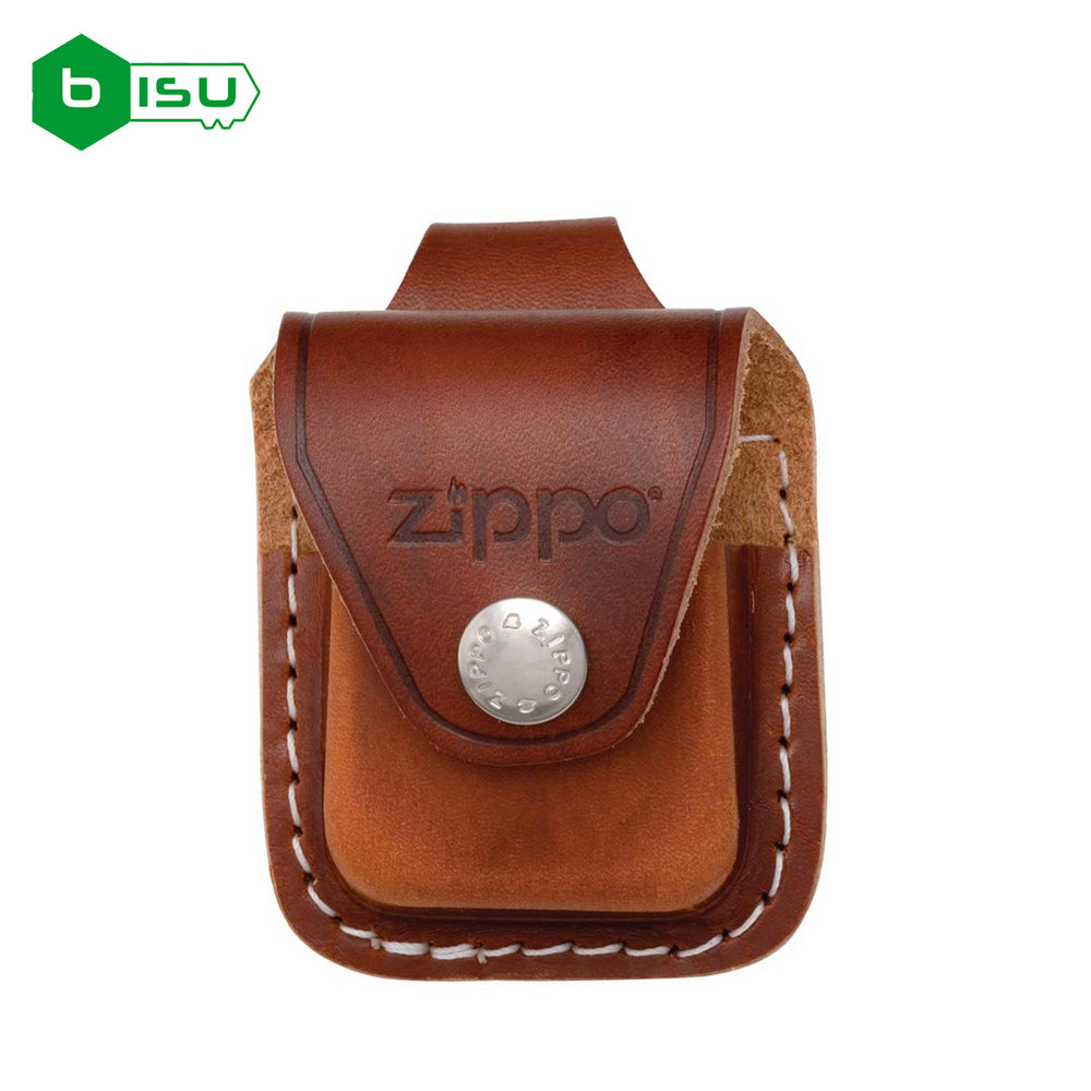 Zippo Bao đựng - Da nâu có Loop treo thắt lưng (Brown Leather Lighter Pouch - With Loop)
